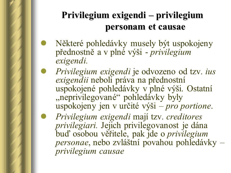 Privilegium exigendi – privilegium personam et causae