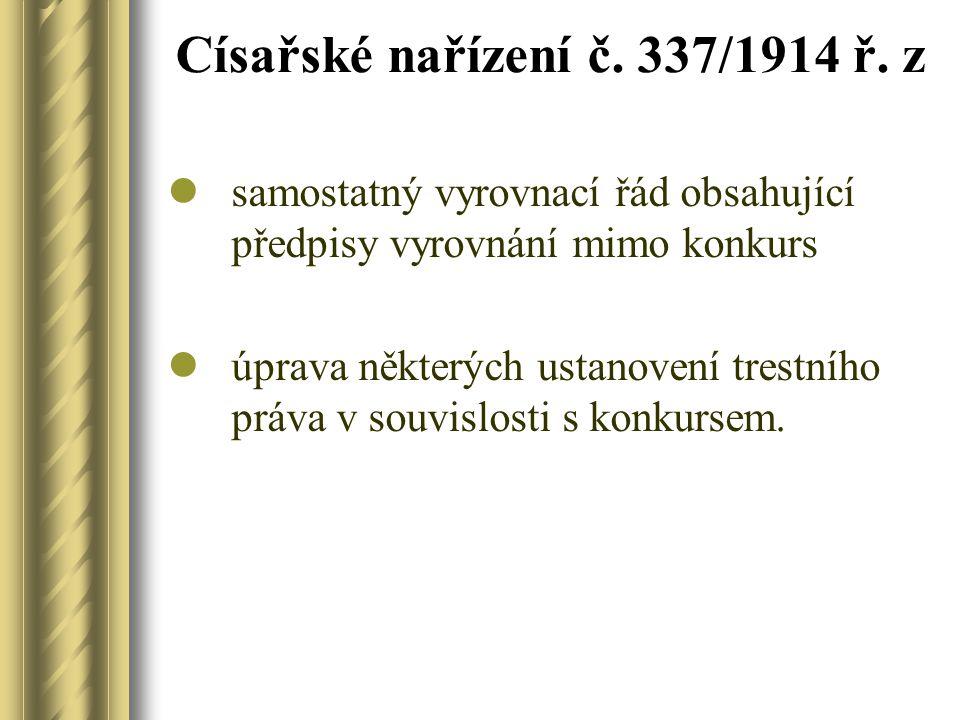 Císařské nařízení č. 337/1914 ř. z