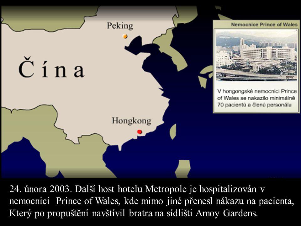 24. února 2003. Další host hotelu Metropole je hospitalizován v