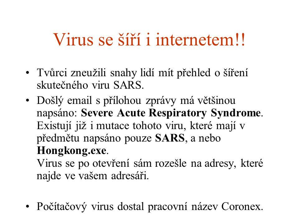 Virus se šíří i internetem!!