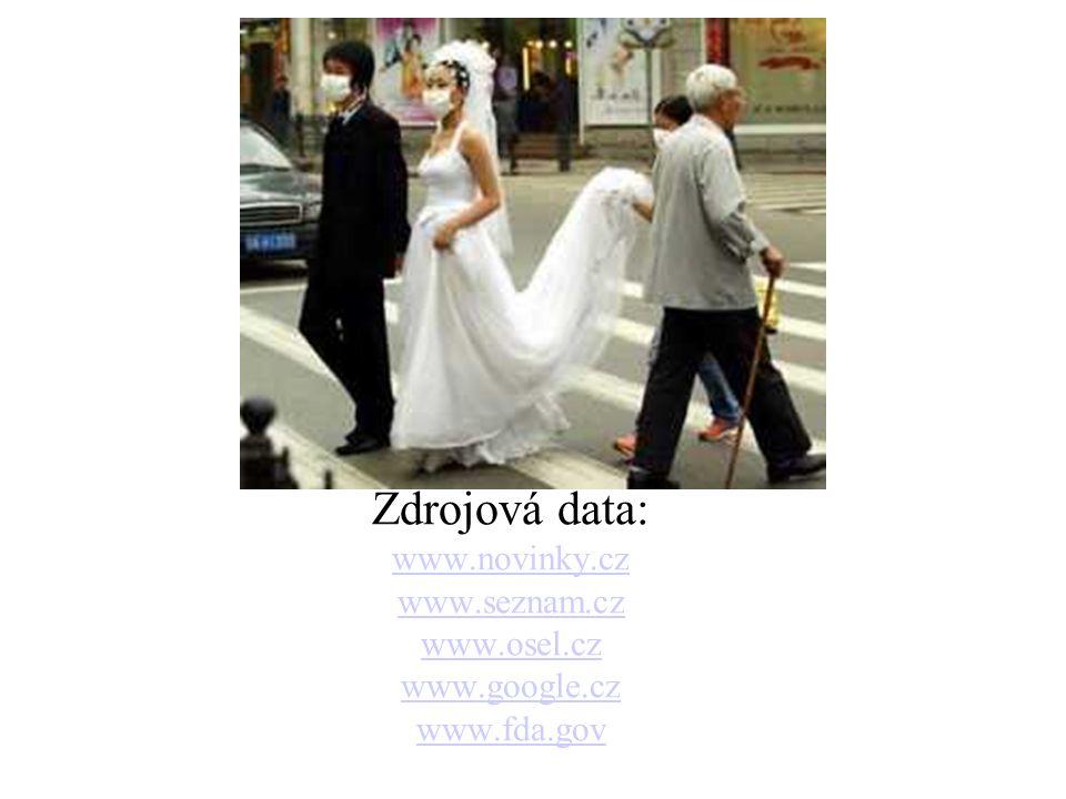 Zdrojová data: www.novinky.cz www.seznam.cz www.osel.cz www.google.cz www.fda.gov.