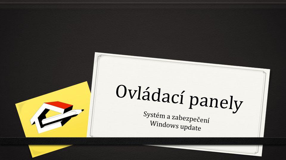 Systém a zabezpečení Windows update