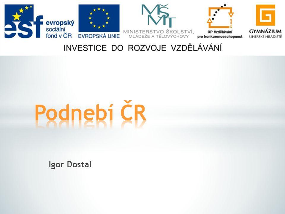 Podnebí ČR Igor Dostal