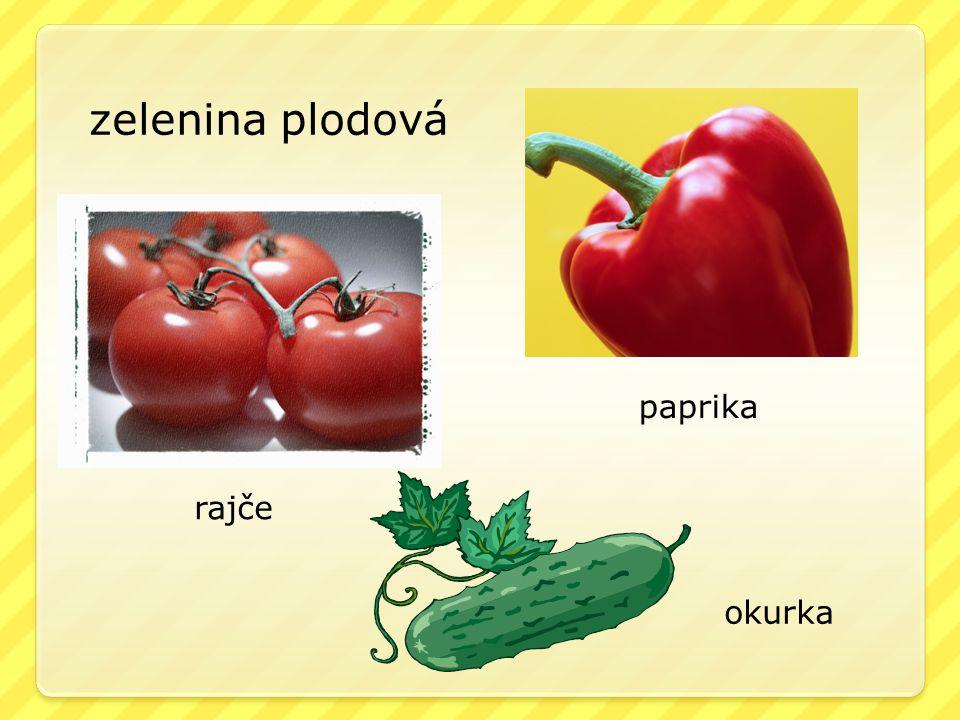 zelenina plodová paprika rajče okurka