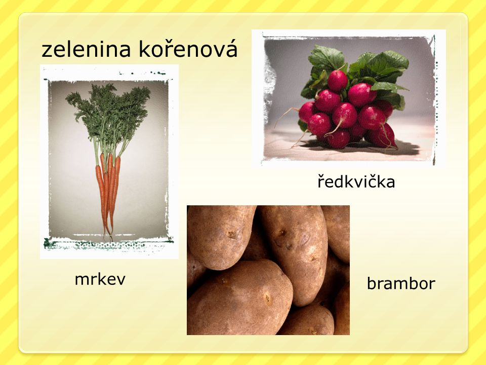 zelenina kořenová ředkvička mrkev brambor