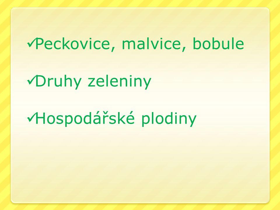 Peckovice, malvice, bobule