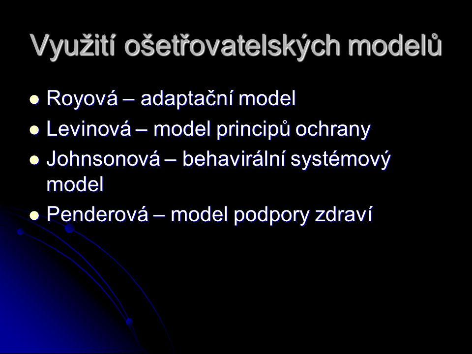 Využití ošetřovatelských modelů