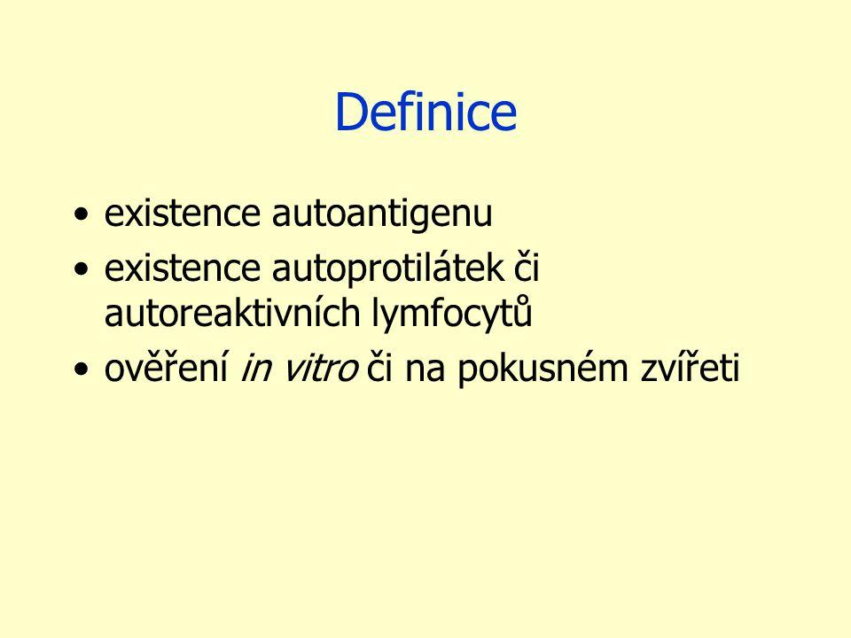 Definice existence autoantigenu