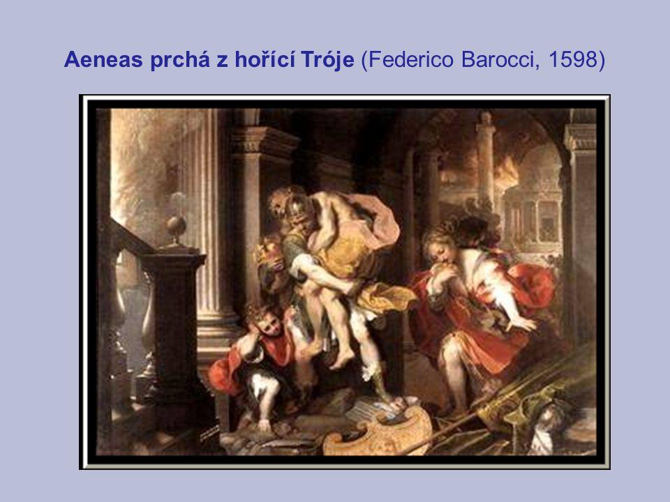 Aeneas prchá z hořící Tróje (Federico Barocci, 1598)
