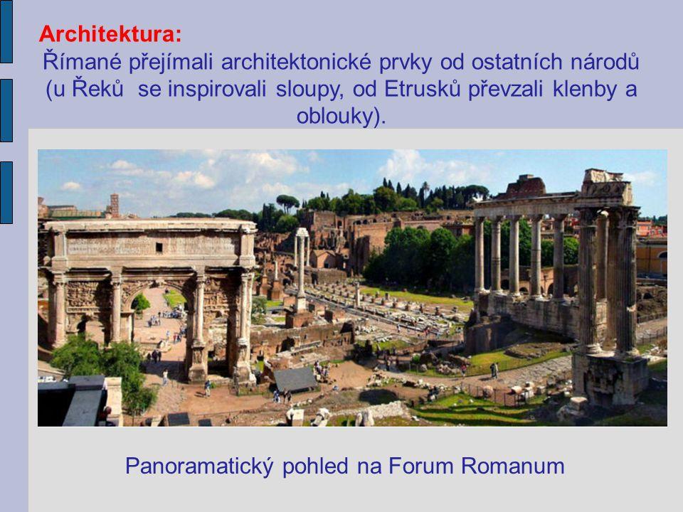 Římané přejímali architektonické prvky od ostatních národů