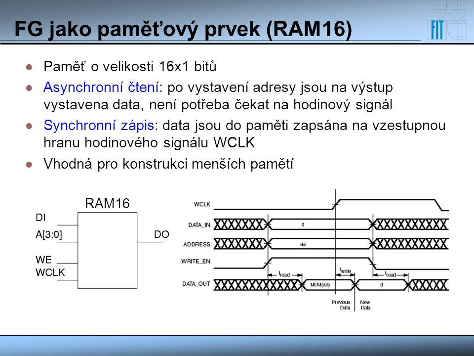 FG jako paměťový prvek (RAM16)