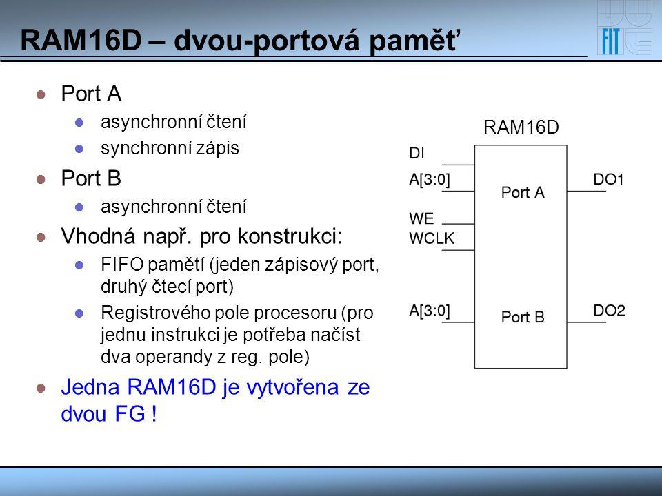 RAM16D – dvou-portová paměť
