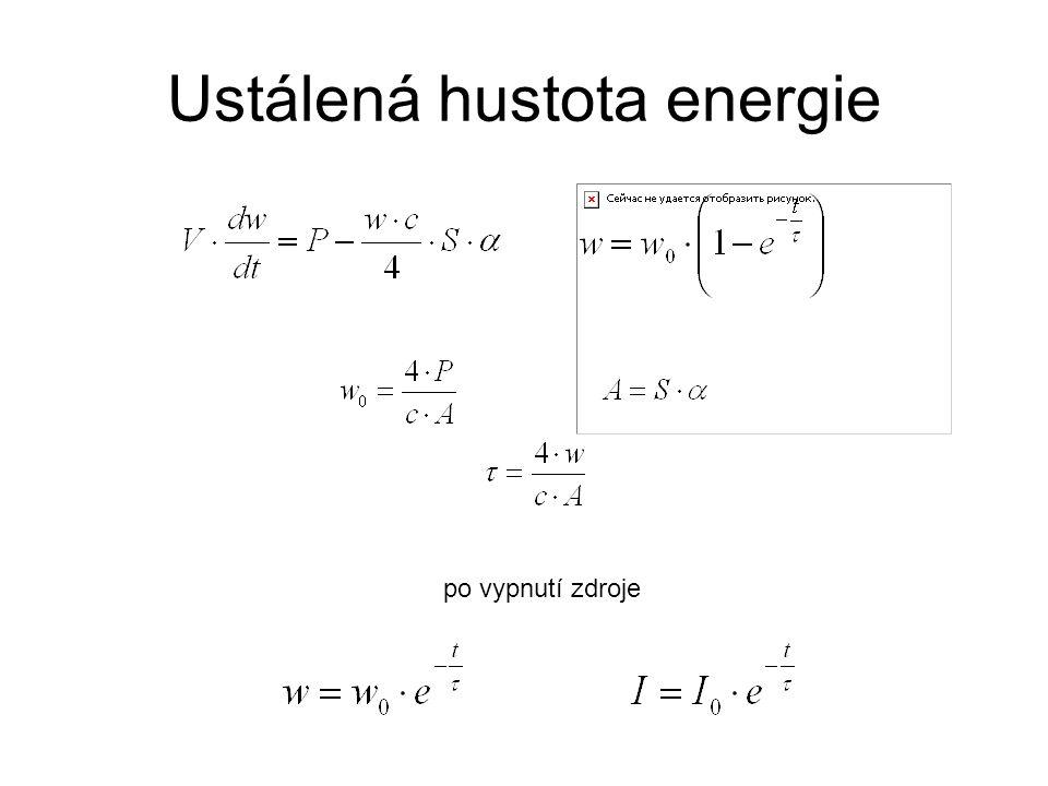 Ustálená hustota energie