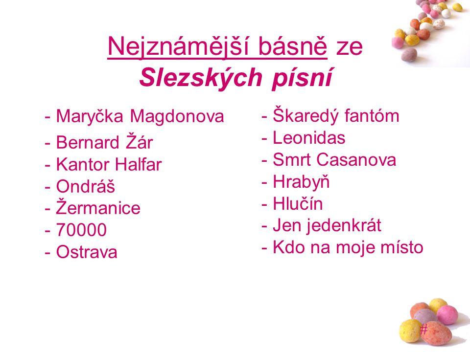 Nejznámější básně ze Slezských písní