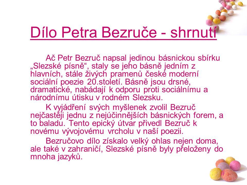 Dílo Petra Bezruče - shrnutí