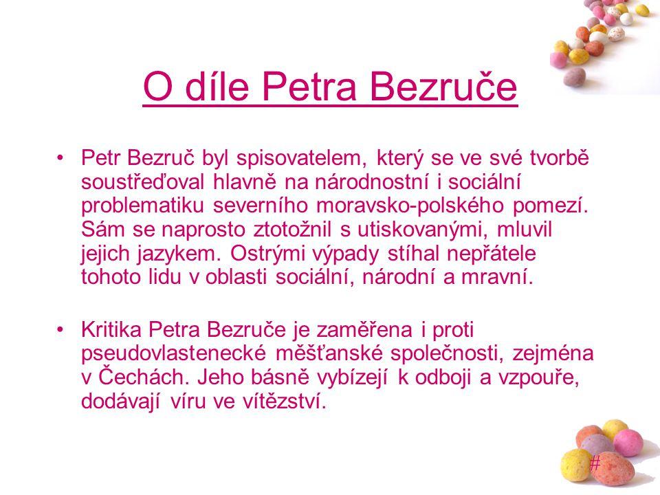 O díle Petra Bezruče