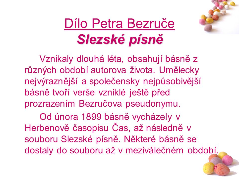 Dílo Petra Bezruče Slezské písně