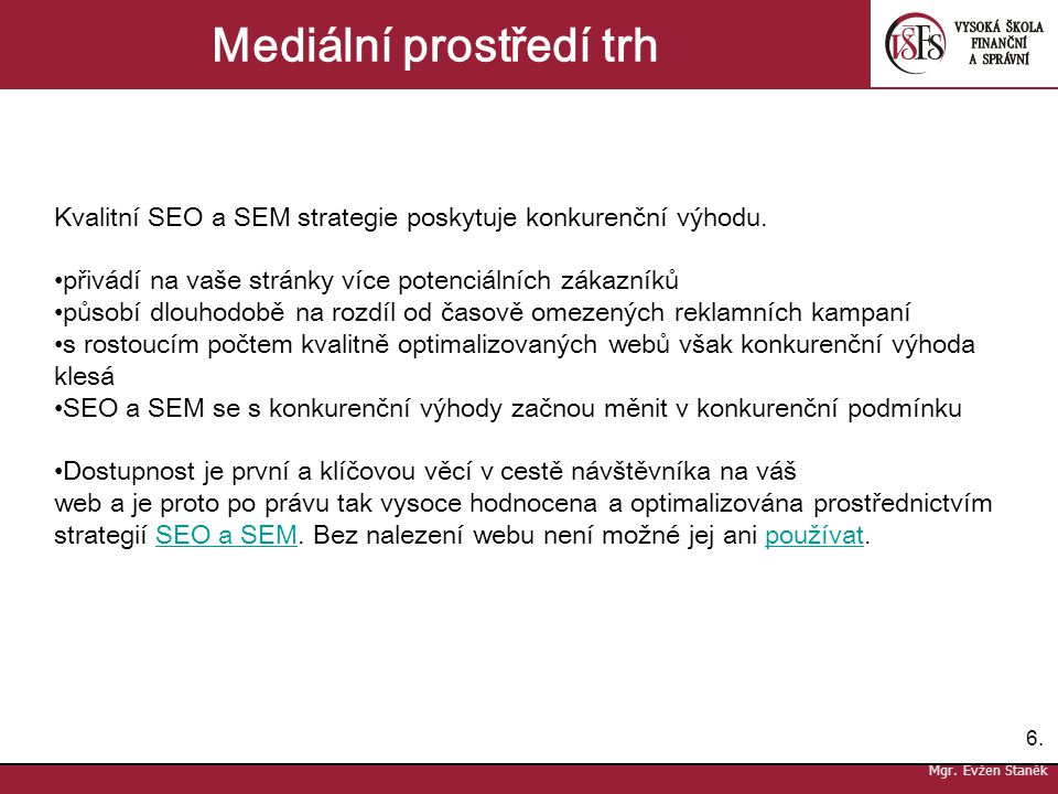 Mediální prostředí trh