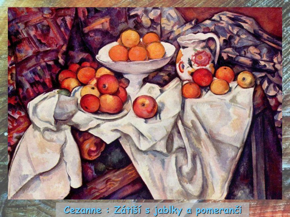Cezanne : Zátiší s jablky a pomeranči