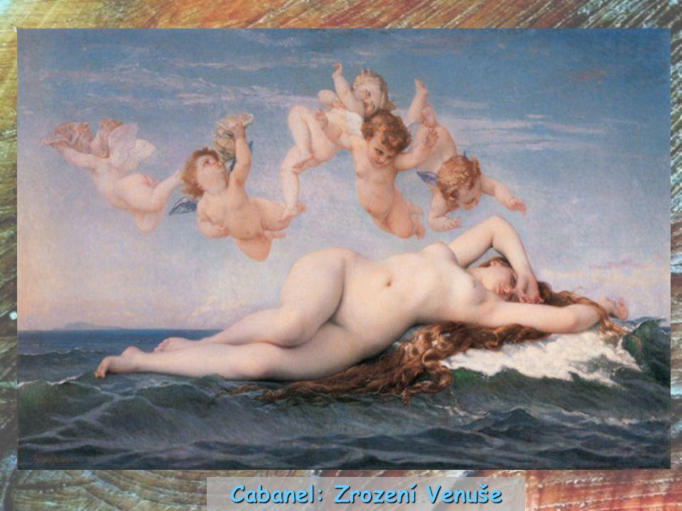 Cabanel: Zrození Venuše