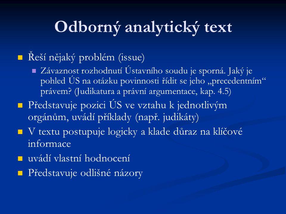 Odborný analytický text