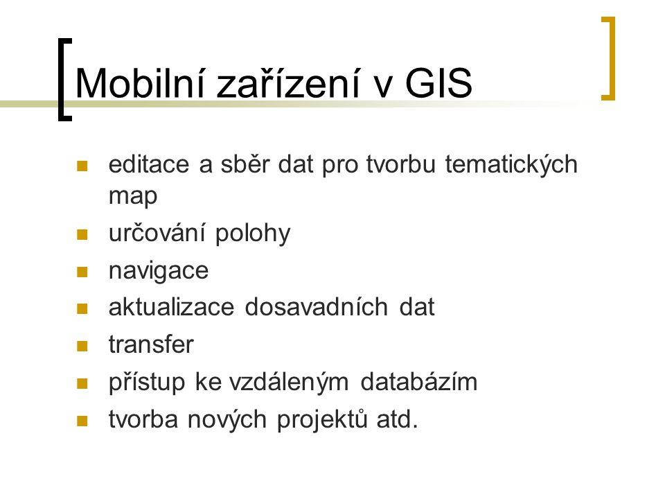 Mobilní zařízení v GIS editace a sběr dat pro tvorbu tematických map