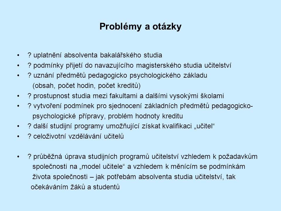Problémy a otázky uplatnění absolventa bakalářského studia
