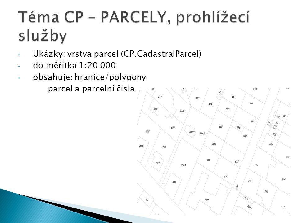 Téma CP – PARCELY, prohlížecí služby