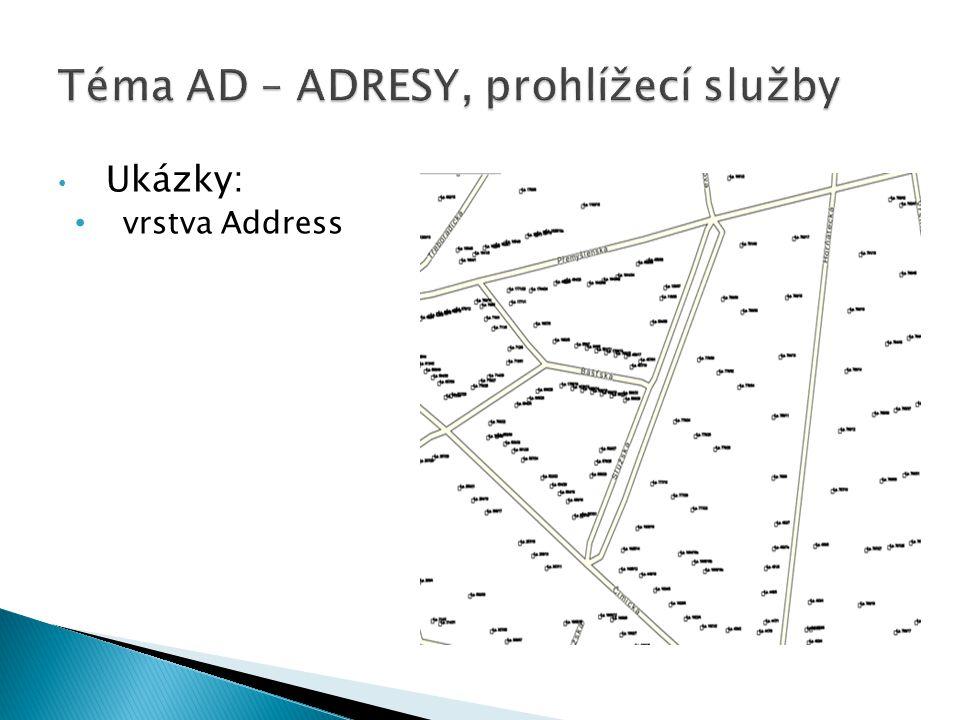 Téma AD – ADRESY, prohlížecí služby