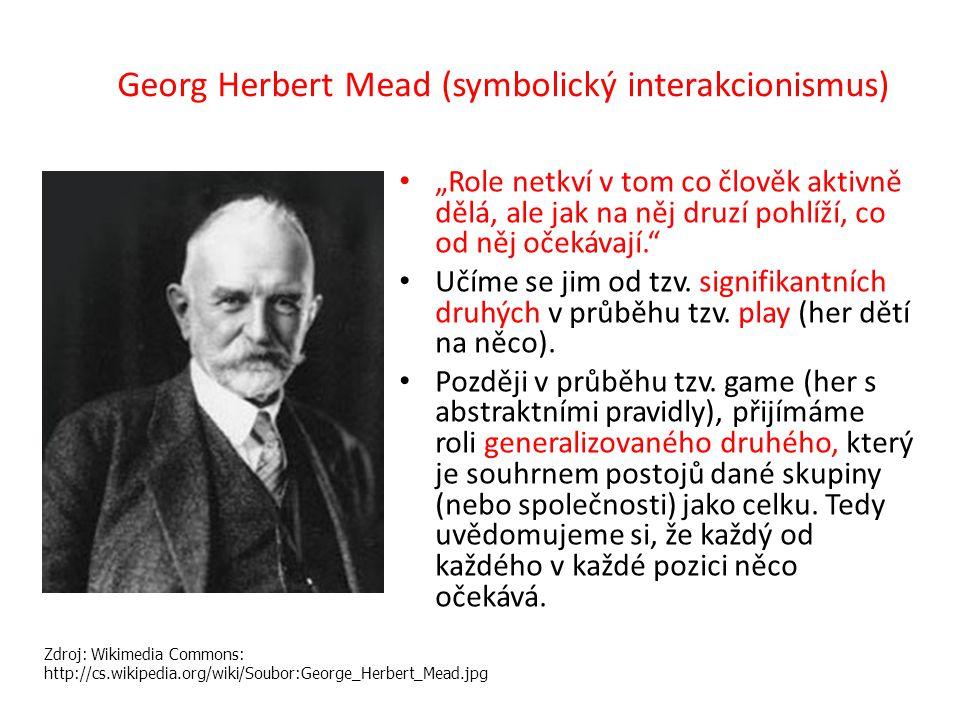 Georg Herbert Mead (symbolický interakcionismus)