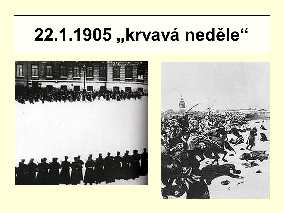 """22.1.1905 """"krvavá neděle"""