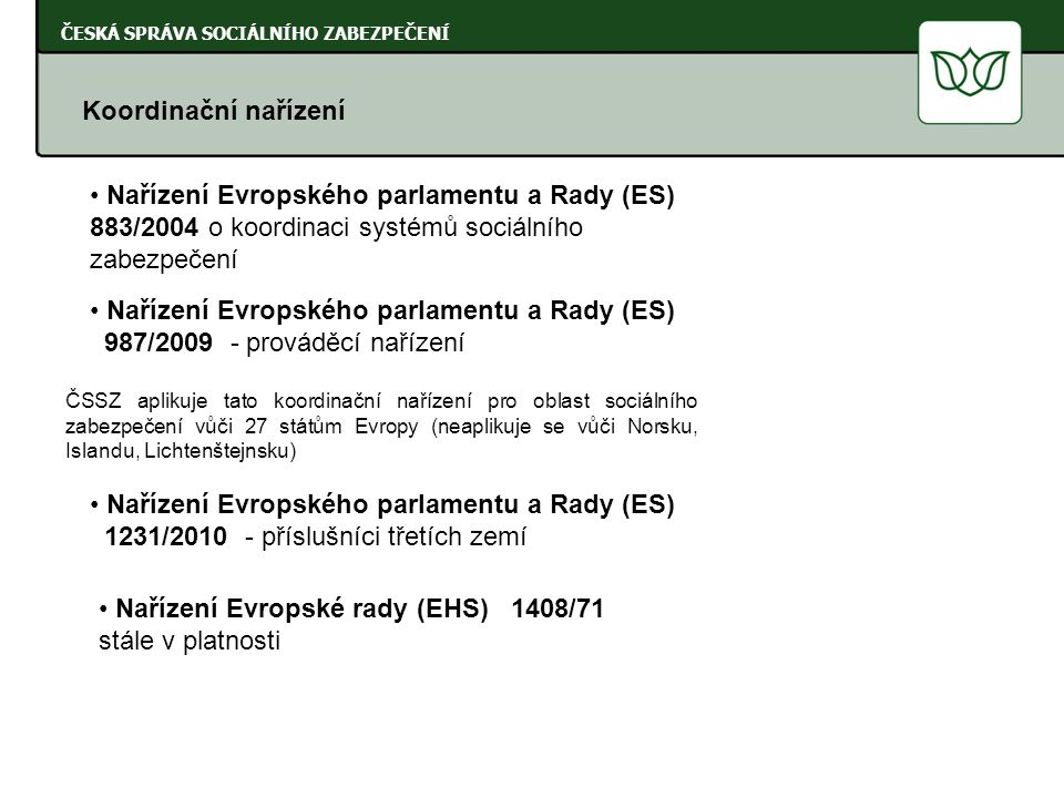 Nařízení Evropského parlamentu a Rady (ES)