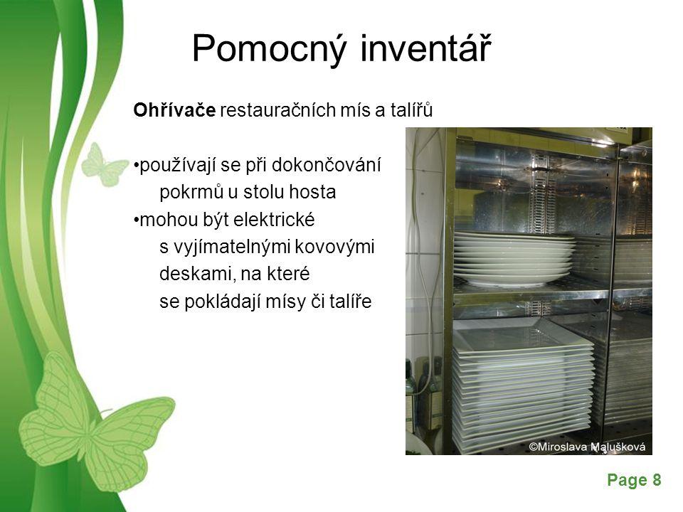 Pomocný inventář Ohřívače restauračních mís a talířů