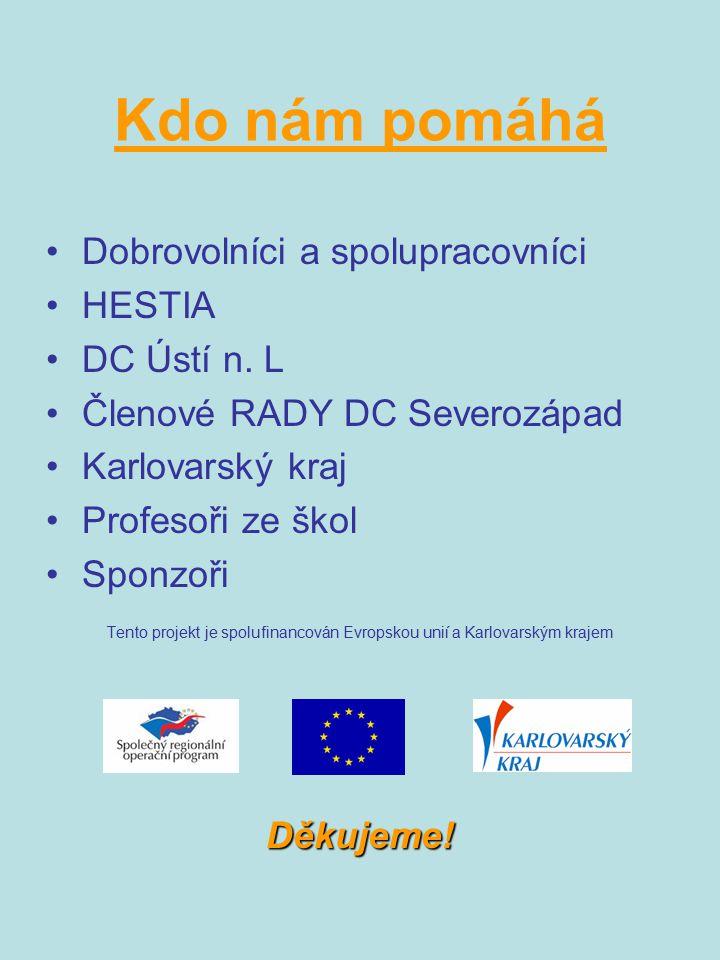 Tento projekt je spolufinancován Evropskou unií a Karlovarským krajem