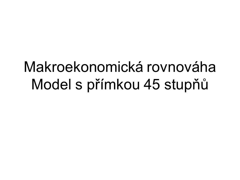 Makroekonomická rovnováha Model s přímkou 45 stupňů