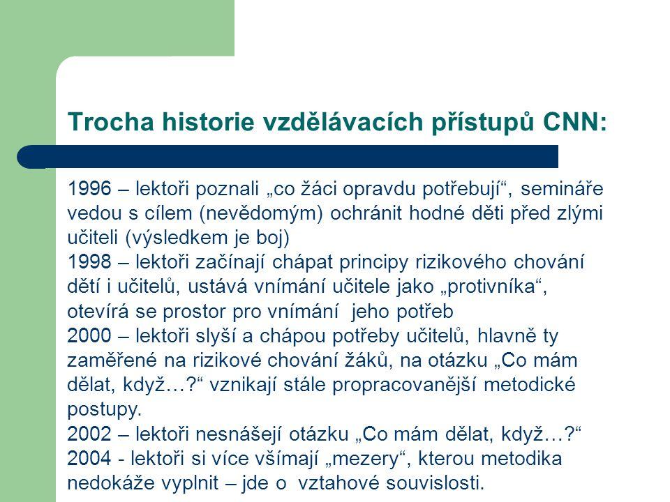 Trocha historie vzdělávacích přístupů CNN: