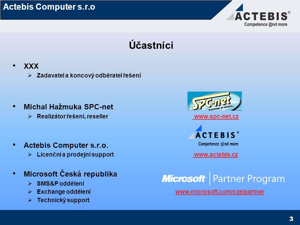 Účastníci XXX Michal Hažmuka SPC-net Actebis Computer s.r.o.