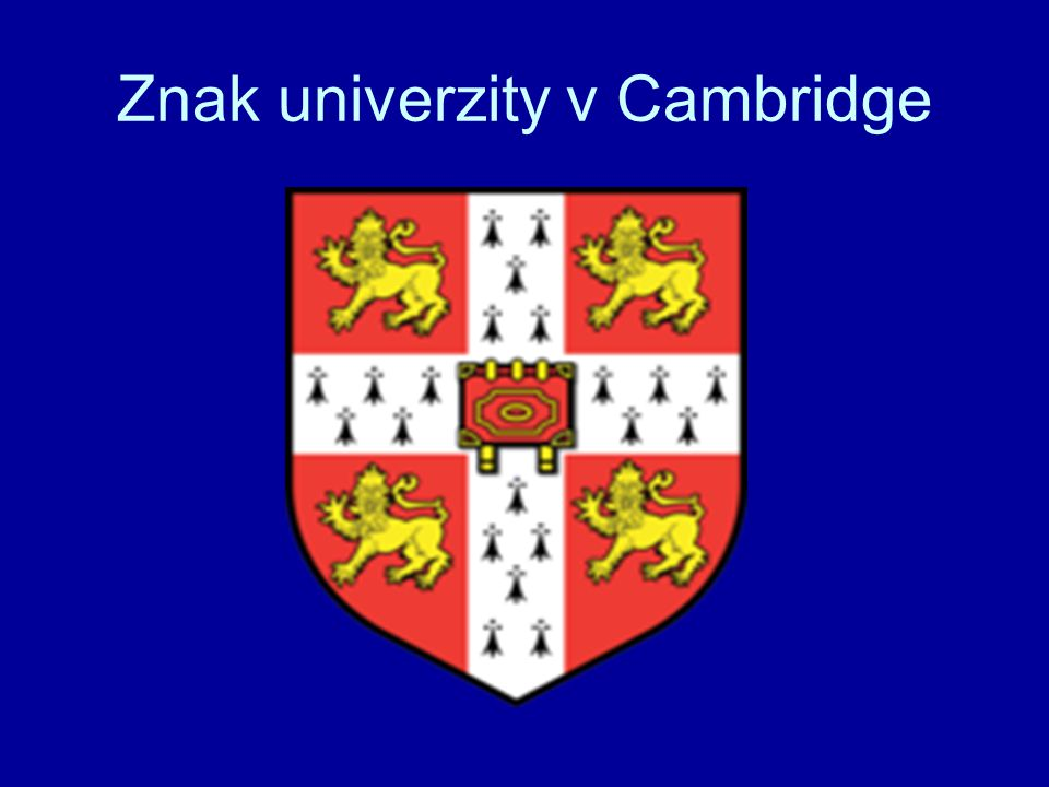 Znak univerzity v Cambridge