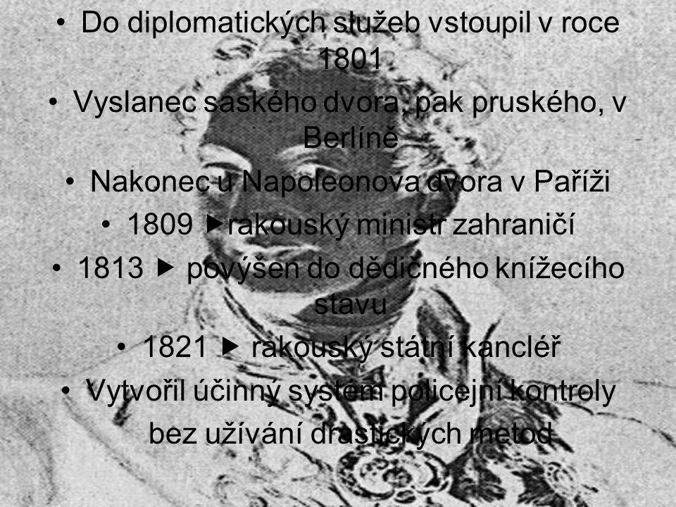Do diplomatických služeb vstoupil v roce 1801
