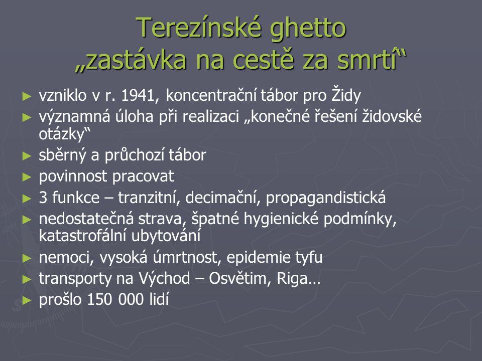 """Terezínské ghetto """"zastávka na cestě za smrtí"""