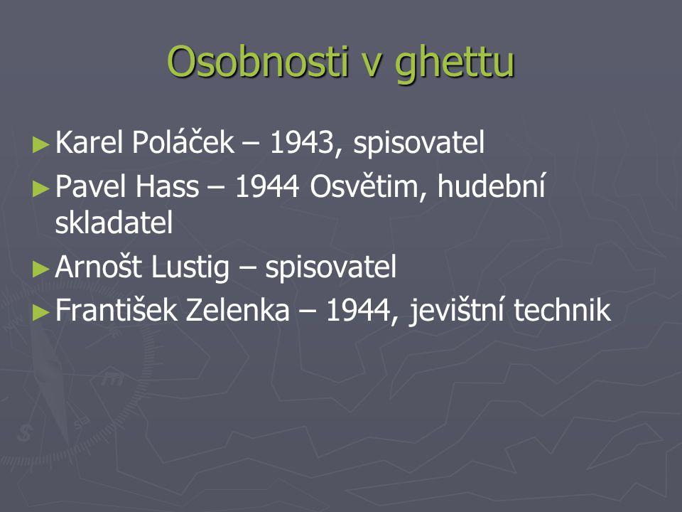 Osobnosti v ghettu Karel Poláček – 1943, spisovatel