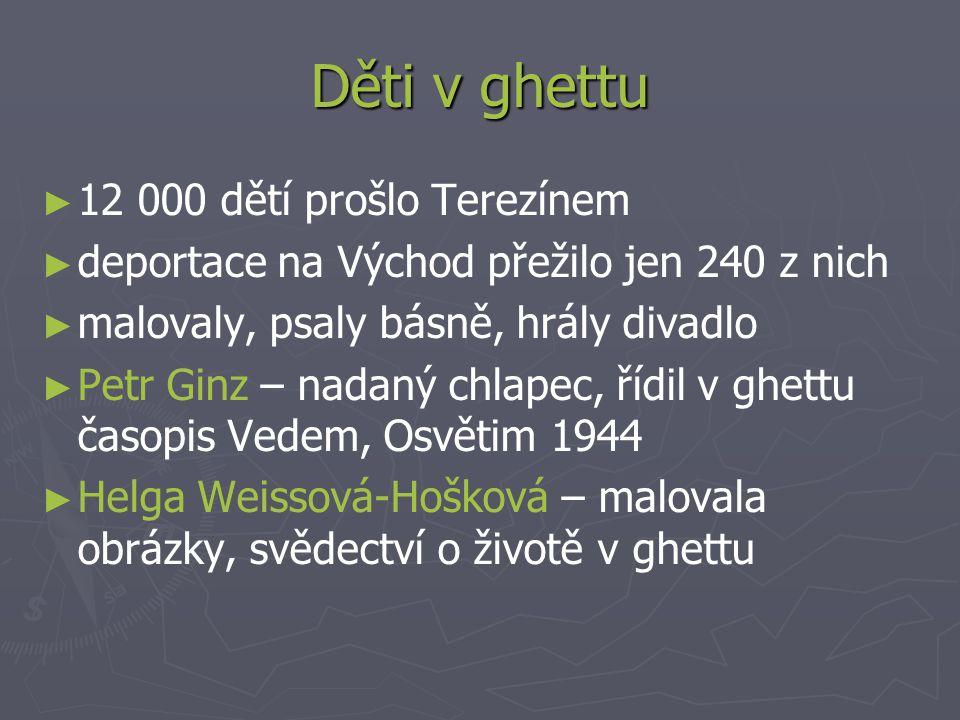 Děti v ghettu 12 000 dětí prošlo Terezínem