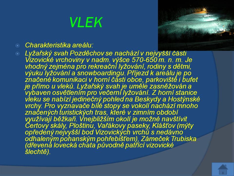 VLEK Charakteristika areálu: