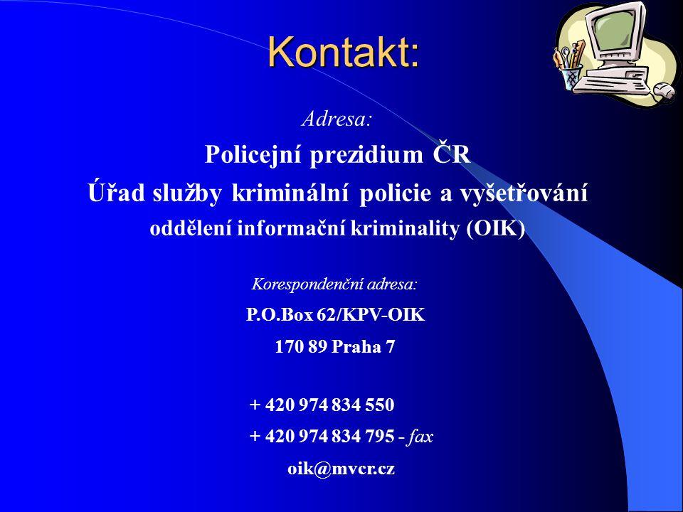 Kontakt: Policejní prezidium ČR