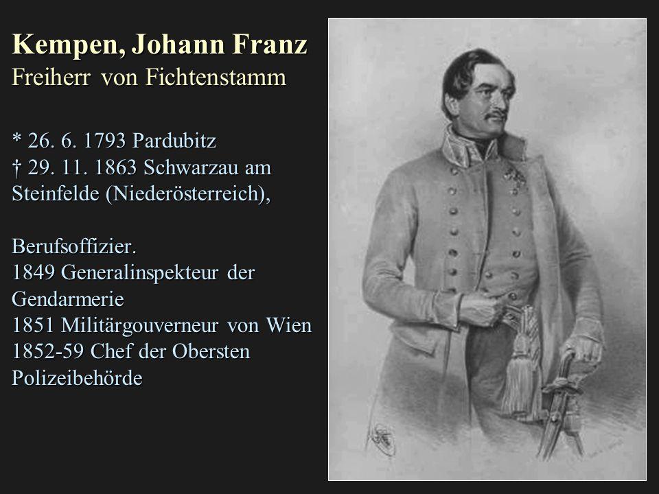 Kempen, Johann Franz Freiherr von Fichtenstamm. 26. 6