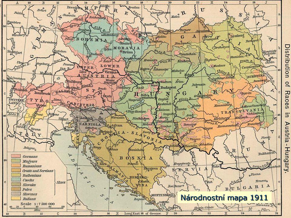 Národnostní mapa 1911 Národnostní mapa 1911