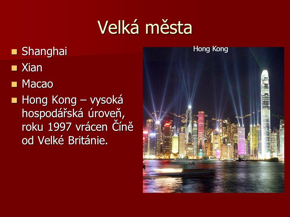 Velká města Shanghai Xian Macao
