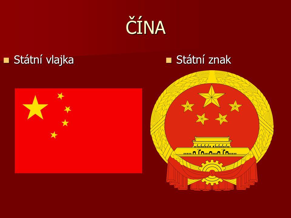 ČÍNA Státní vlajka Státní znak