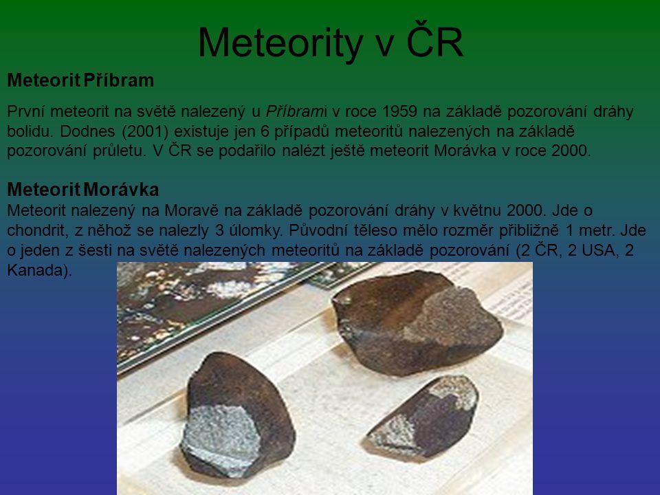 Meteority v ČR Meteorit Příbram Meteorit Morávka