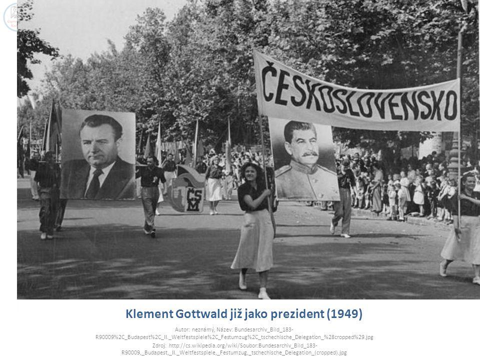 Klement Gottwald již jako prezident (1949)